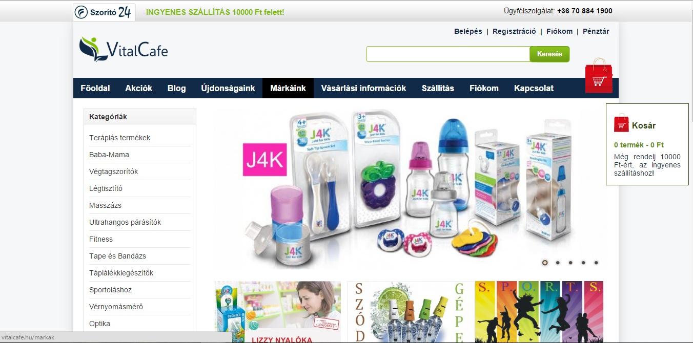 Vital Cafe web áruház